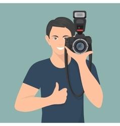 Photographer Flat vector image