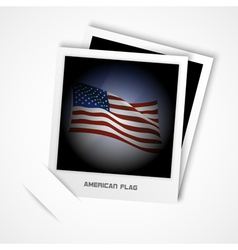 polaroid usa flag vector image