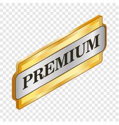 Rectangular label premium isometric icon vector