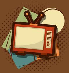 retro vintage television vector image