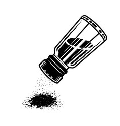 Salt shaker upside down to sprinkle object vector