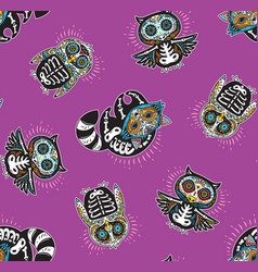 seamless pattern with mexican skulls vector image