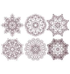 set of ornamental line patterns vector image