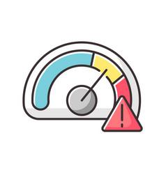 Speed limit rgb color icon vector