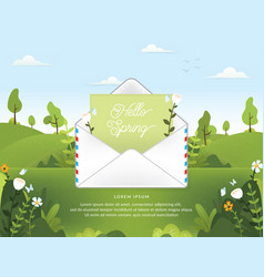 Spring season with email vector
