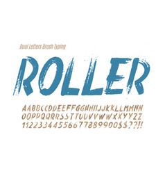 stylish brush painted an uppercase dual vector image