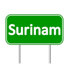 Surinam road sign vector