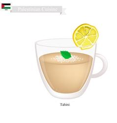 Tahini or Palestinian Sesame Paste vector image