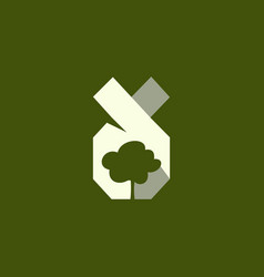 tree silhouette icon logo vector image
