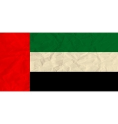United Arab Emirates paper flag vector