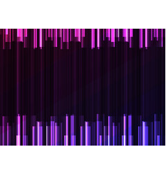 Violet frequency bar overlap in dark background vector