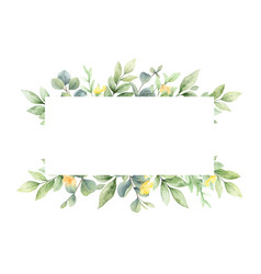 Watercolor banner with flowers and vector