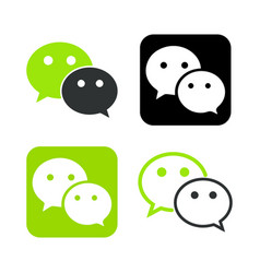 we chat symbol web icon comments color messenger vector image