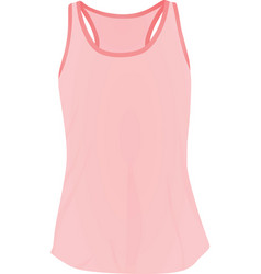 Women pink top tank vector