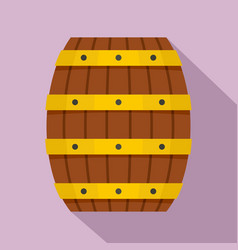 Wood barrel icon flat style vector