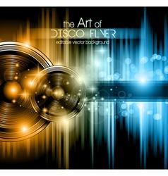Disco club flyer vector image vector image