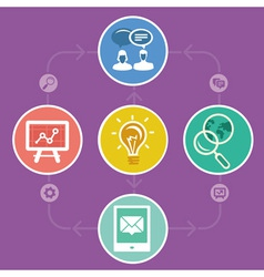 Internet marketing strategy - icons and infographi vector