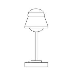 desk lamp icon bulb light energy ilumination vector image