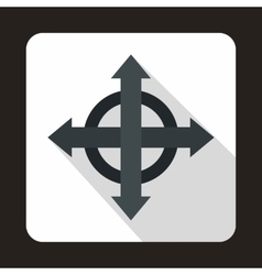 Four black arrows icon flat style vector image