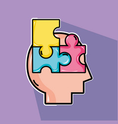 psychology treatment to analysis mental problem vector image
