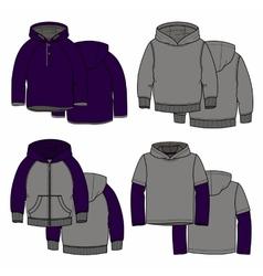 Purple hoodies vector image