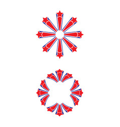 red and blue stars vector image