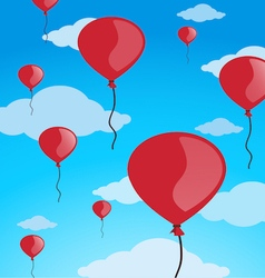 red balloons vector image vector image