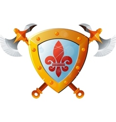 Shield With Axe vector image vector image