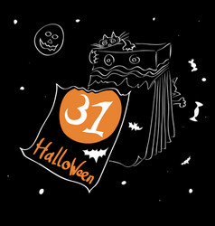 start of a holiday halloween vector image vector image