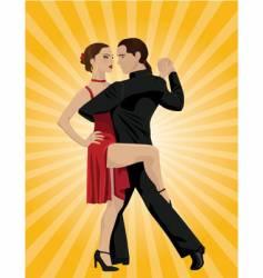 tango dancers vector image vector image