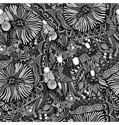 abstract hand-drawn pattern vector image vector image