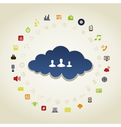 Business a cloud vector image vector image
