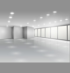 Light conference room or office open space vector image