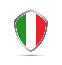 simple italian pointers in the shape of a shield vector image vector image