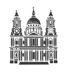 st paul cathedral in london vector image