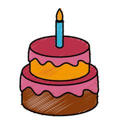birthday cake isolated vector image