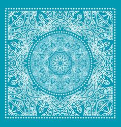 blue bandana print vector image