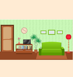 bright colors living room interior in flat style vector image vector image