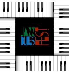 creative of piano keyboard vector image