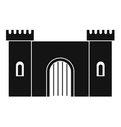 fortress with gate icon simple style vector image vector image