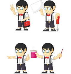 Nerd Boy Customizable Mascot 10 vector image vector image