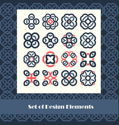 set of design elements abstract vector image vector image