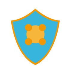 shield protection health care symbol design vector image