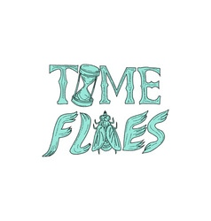Time Flies Drawing vector image