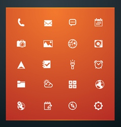 universal glyphs 16 phone symbols 5 vector image vector image