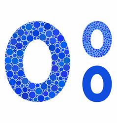 0 digit mosaic icon circle dots vector