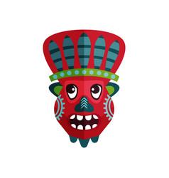 African tribal mask ritual attribute zulu vector