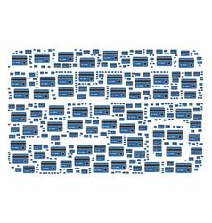 Bank card icon shape vector