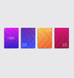 Basic rgbminimal covers design colorful halftone vector