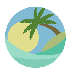 beach theme of the wave vector image